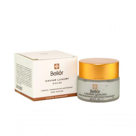 Crema hidratante antiarrugas con Caviar, SPF 20 (Caviar Luxury)