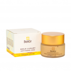 Crema anti-edad oro, activador celular, SPF 20 (Gold luxury) 50ml