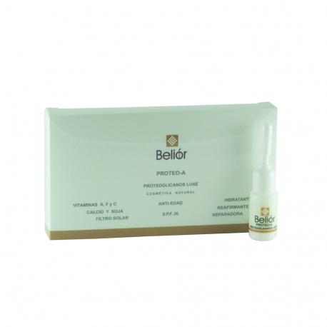 Proteoglicanos de luxe, complejo vitaminico antiedad, SPF 20, hidratante, reafirmante, reparador (Proteo-A)